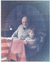 Reverend Gordon Elliott with young friend